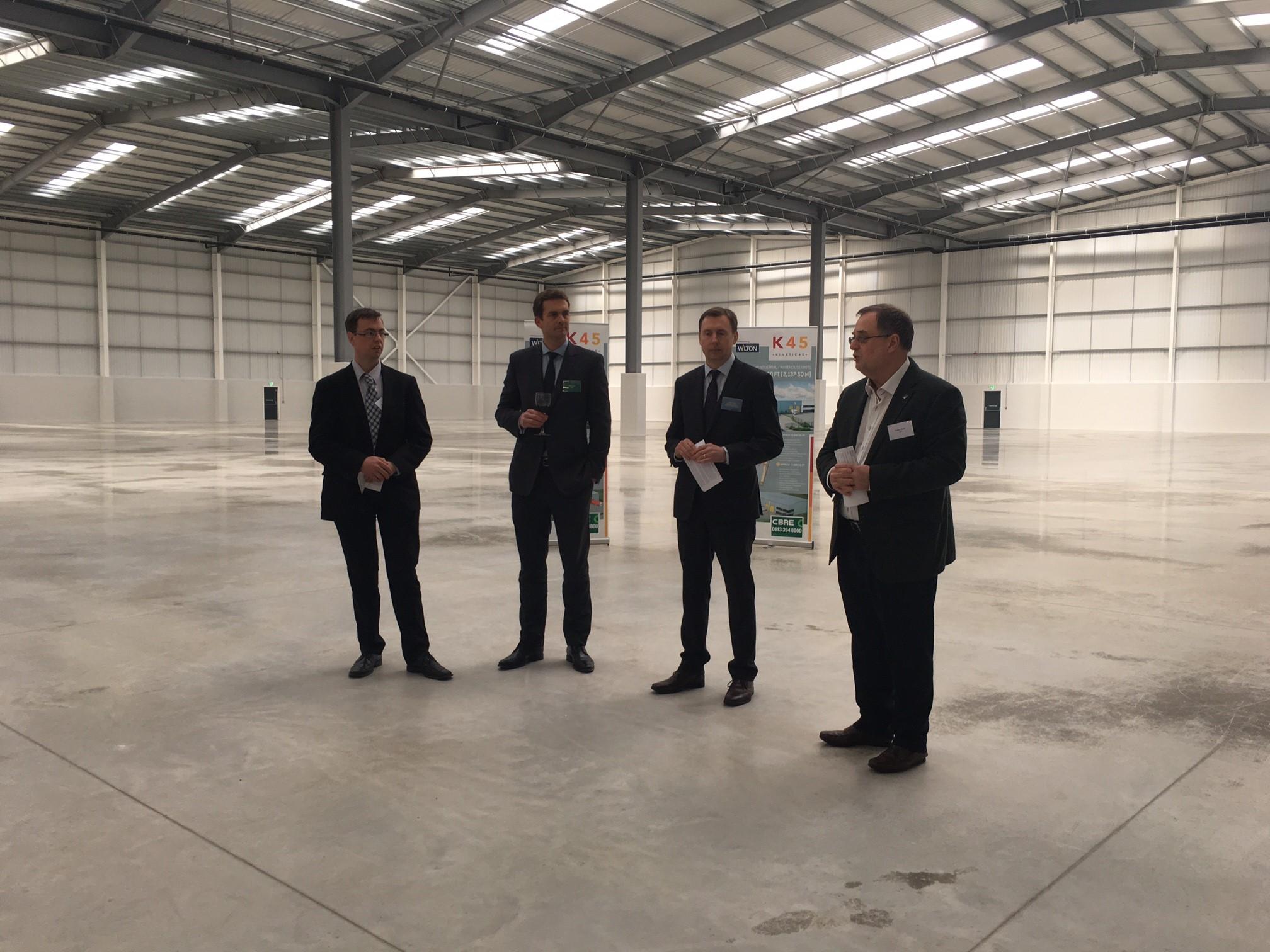 K45_launch_Mark_Mills_Leeds_City_Council;_Mike_Baugh;_Jason_Stowe_Wilton_Developments;_Roger_Marsh_OBE